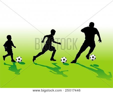 Soccer silhouettes generation