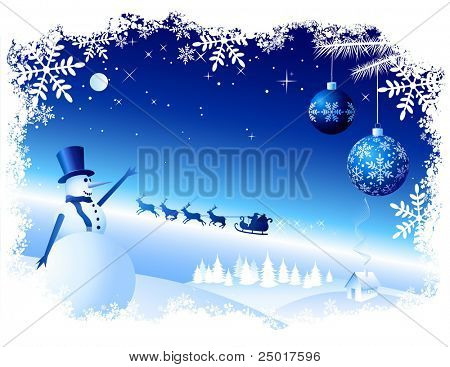 Vector Christmas Background. All elements are grouped in layers. Enjoy