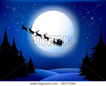 Santa`s sleigh - vector. All elements are grouped in layers. check Out My Portfolio For Similar Illustrations ...