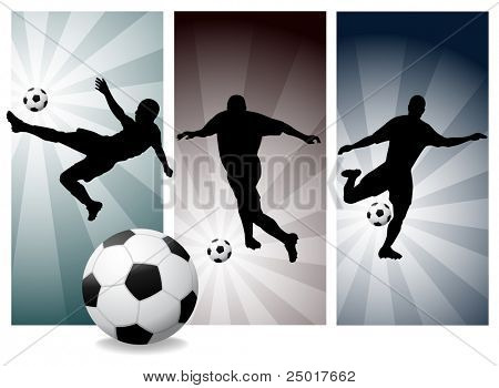 Vector Soccer Players Easy Change