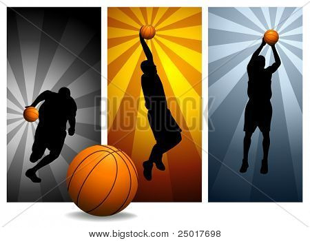 Vector Basketball Players#2. Easy change colors.