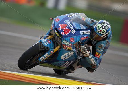 VALENCIA, SPAIN - NOVEMBER 6: Pol Espargaro in motogp Grand Prix of the Comunitat Valenciana, Ricardo Tormo Circuit of Cheste, Spain on november 6, 2011