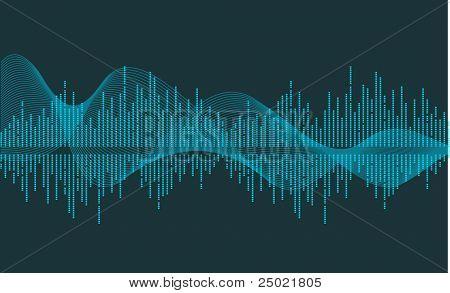 Vector vector de onda de la música