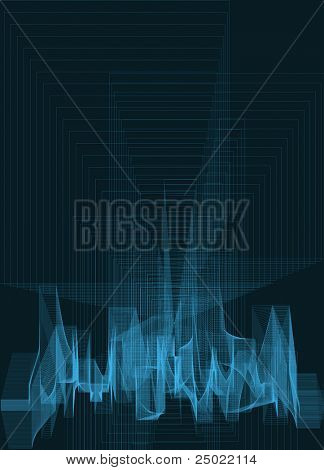abstract lines construction- background- vector - blue