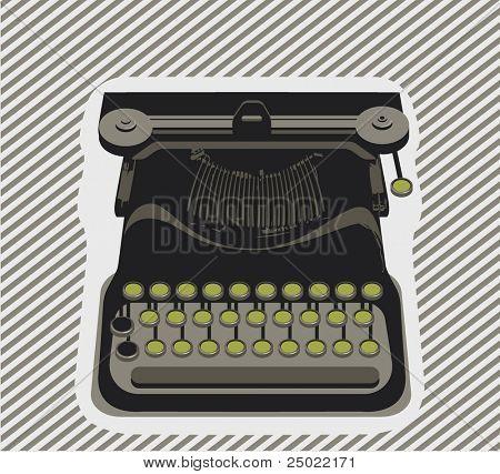typewriter- object - Vector