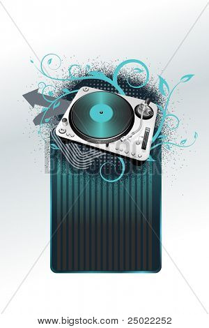 frame with turntable - vector - blue