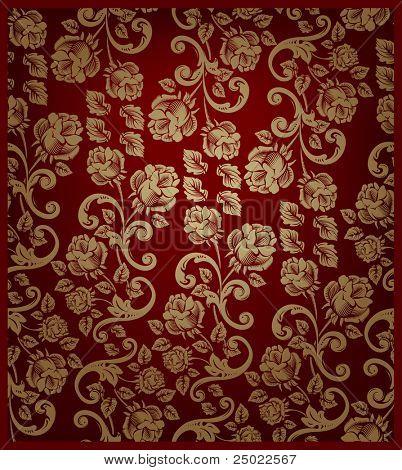 nahtlose Muster-Rotgold und rot - Vektor