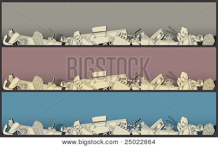 movie theme border - vector