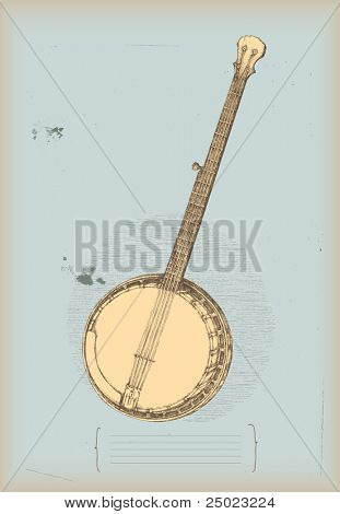 Banjo drawing- traditional instrument
