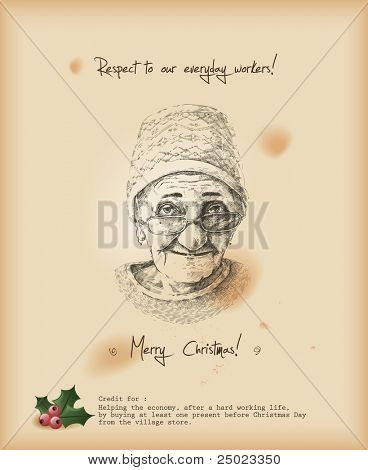 Respect to our everyday workers! Christmas greeting