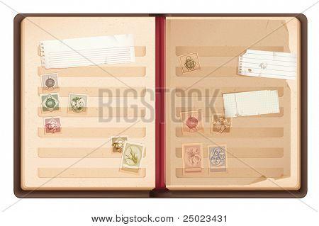 Old Stamp book.Philately album