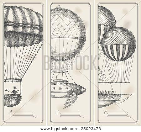Retro máquinas voadoras de faixas de idade