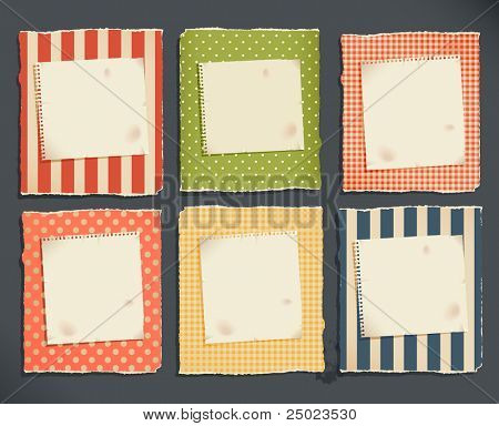 decorative torn paper & notebook page for text