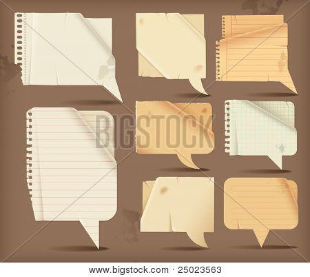 Discurso de papel ondulado de burbujas - rectangular