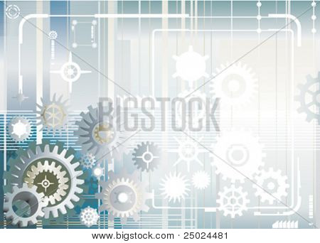 vector file of gear wheel design and background