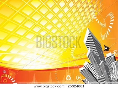 City Solar Power design, vector illustration file with layer