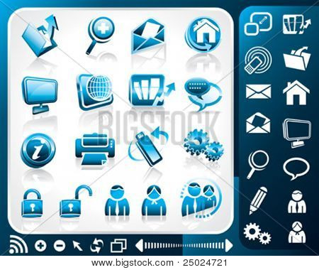 Icon set of internet, vector illustration layers file.