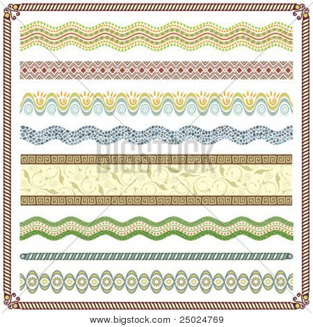 Pattern Border vector illustration, Colors are grouped and Layered.