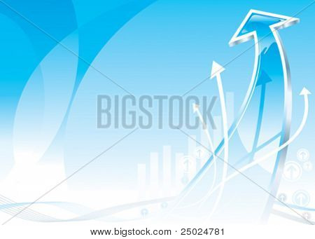 Growth Arrow design, vector illustration layered file.
