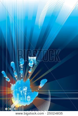 Digital security concept, vector illustration with Layers file.