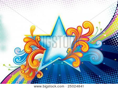 Elegance Star Shape, vector illustration layered file.