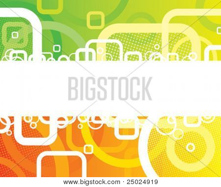 Abstract Fresh Banner of vector illustration layered.