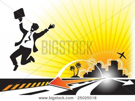 Business Success concept, vector illustration layered.