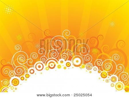 Abstract sun design, vector illustration layered.