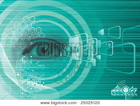 Digital eye, Security concept, vector Layered.