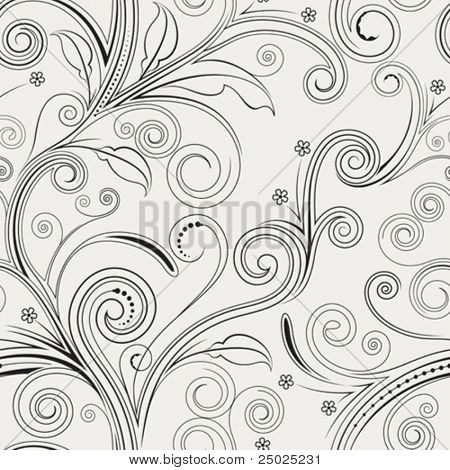 Seamless both side floral pattern. vector illustration.