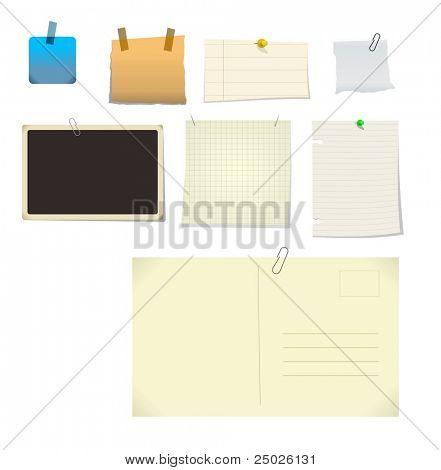 notes stickers. (Check out my portfolio for vector file)