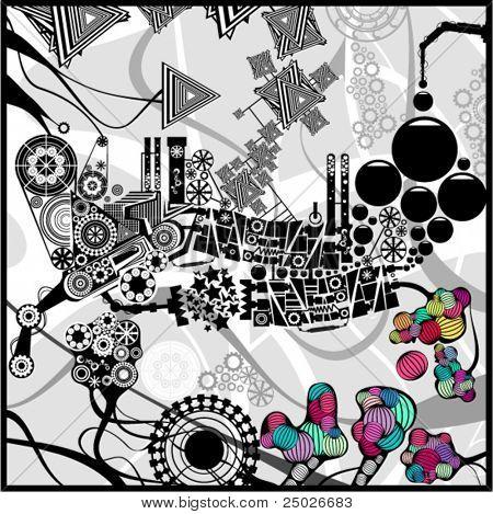 Imagen abstracta muy detallada