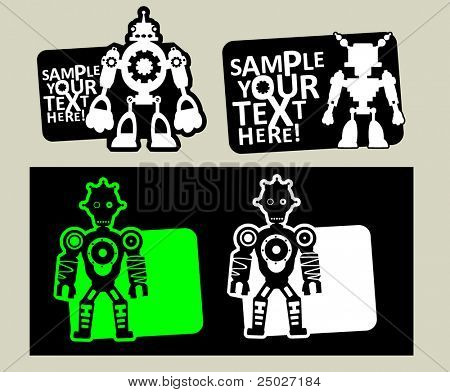 vector robot stickers