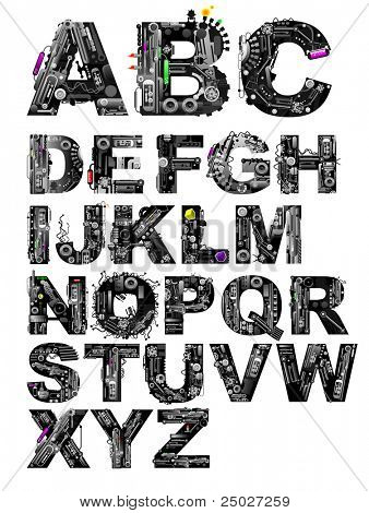 very detailed alphabet