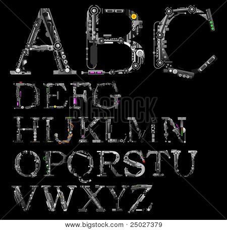 very detailed cyber-alphabet