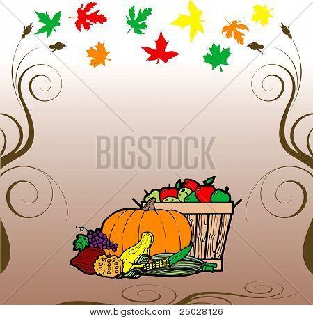 Thanksgiving Fruit Veg Card
