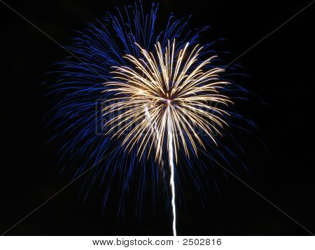 Blue And White Fireworks