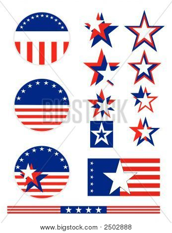 Patriotic Political Buttons