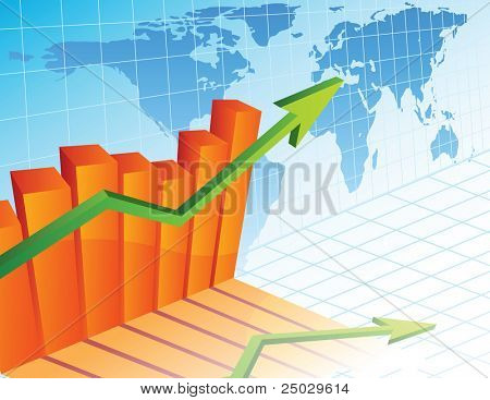 Vector illustration - Business growth diagram