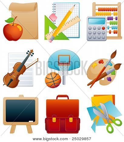 Vector illustration - education icon set