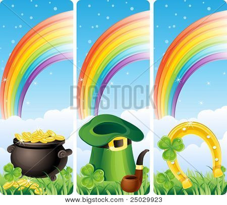 Vector illustration - set of  st. patrick's banner