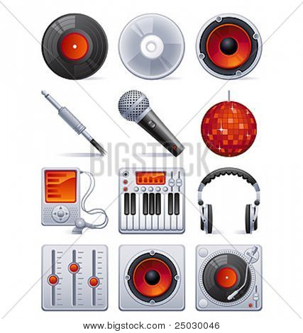 Vektor-Illustration-sound Icon-set