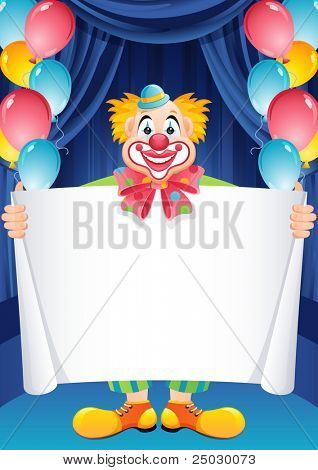 Payaso de vector illustration - jengibre