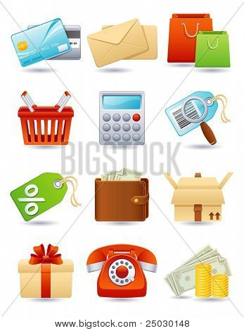 Vector illustration - shopping icon set
