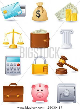 Finance icon set - raster version