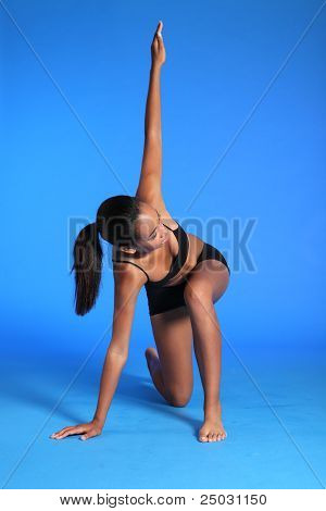 Fitness Warm Up Stretch By Fit African Woman
