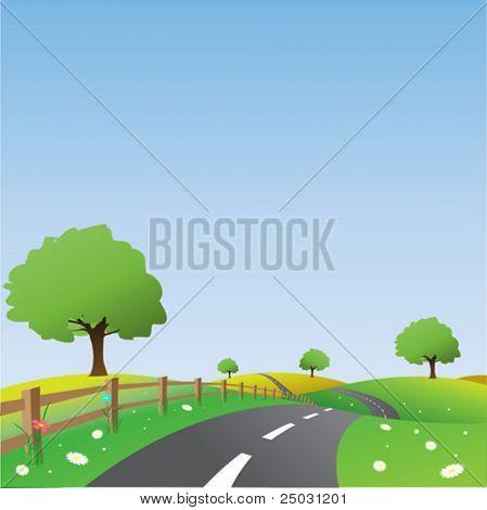 Country Landscape with Road