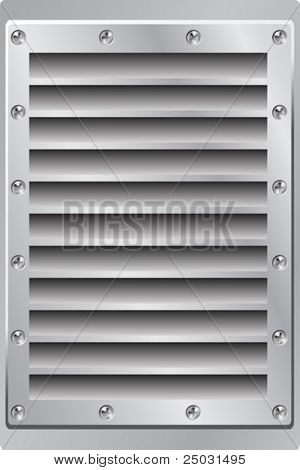 Metal Background Air Vent