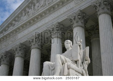 Statue Outside Supreme Court
