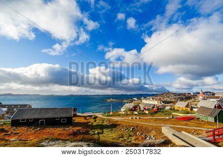 Nuuk City Old Harbor Fjord